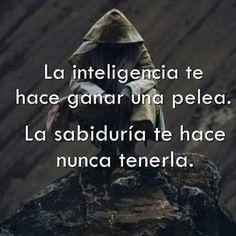 Diferencia entre inteligencia y sabiduría...