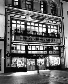 Ireland - Bewley's Oriental cafe - Dublin landmark and tradition since 1927 Best Of Ireland, Dublin Ireland, Ireland Travel, Cafe Dublin, Dublin City, Nocturne, Grafton Street, Black And White Prints, Architecture Details