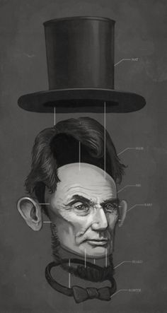 The Art Of Mike Mitchell. Abe. Lincoln.
