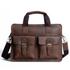 """Handmade Vintage Leather Briefcase / Leather Messenger Bag / Leather Satchel / 11"""" 13"""" MacBook 12"""" 13"""" Laptop Bag"""