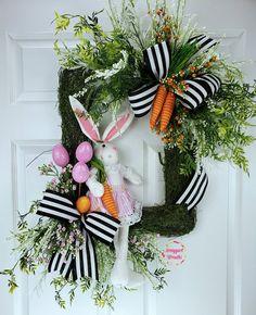 Easter Wreaths, Christmas Wreaths, Easter Crafts, Easter Decor, Easter Ideas, Easter Food, Easter Bunny, Diy Spring Wreath, Spring Door