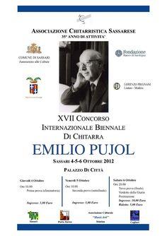 XVII #Concorso Internazionale Biennale di #Chitarra Emilio #Pujol