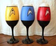 #StarTrek wine glasses - for all your formal Geek gatherings