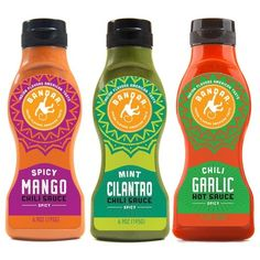 Bandar Foods Chili Sauce 3 Pack Bundle  Spicy Mango Chili Mint Cilantro Chili Garlic Chili * Check out this great product.