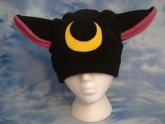 Sailor Moon Luna Kitty Hat Fleece Handmade