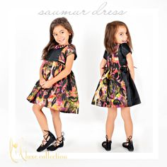 Saumur Dress pdf sewing pattern for girls 18m-10 by lil luxe collection