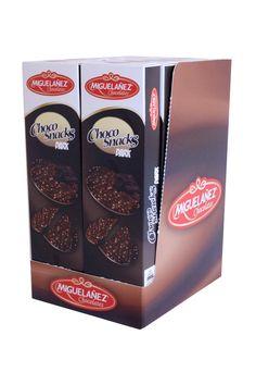 Los Chocosnacks Dark de 75 gr. (chocolate amargo) son el snack ideal para desayunos, meriendas y aperitivos golosos. Los Chocosnacks son finos, crujientes y tienen un sabor insuperable.