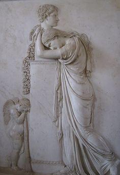 Funeral Stele of Pietro Stecchini - attrib. to Rinaldo Rinaldi, Roman, 19th century by rosewithoutathorn84, via Flickr