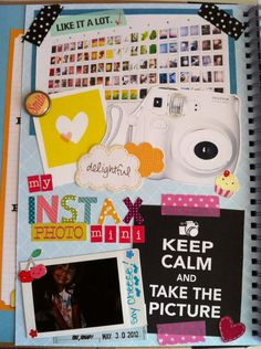 smashbook page Love this!  Just got my instax mini and I'm in love!!