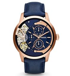Gold & Navy | Men's Watch | Fossil