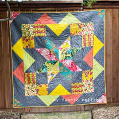 Pretty Little GIANT Star Surround Quilt |  fabric relish