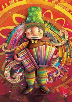 'A Sanfona Colorida' by Anna Anjos (Brazilian illustrator)