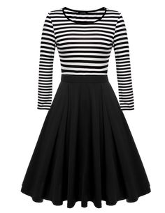 ACEVOG Women's Stripes Patchwok A-line Long Sleeve Cocktail Midi Plus Size Dress at Amazon Women's Clothing store: https://www.amazon.com/gp/product/B01LA4WJ1C/ref=as_li_qf_sp_asin_il_tl?ie=UTF8&tag=rockaclothsto-20&camp=1789&creative=9325&linkCode=as2&creativeASIN=B01LA4WJ1C&linkId=d5b8c232e513916c7b255b0a6d930fde