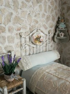 Miniature Wrought Iron Headboard
