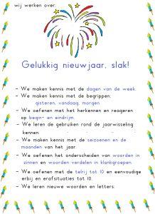 Posters met doelen bij de verschillende ankerpunten: er is er één jarig, het jaar rond, hoe lang nog? oud & nieuw. - jufanja.eu