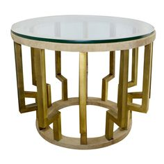 Side Table, Brass, Hollywood Regency