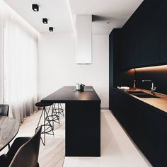 "6,644 Likes, 61 Comments - A Designer's Mind (@adesignersmind) on Instagram: ""Black is the new black. . #interiordesign #kitchendesign #bathroomdesign #housedesign"""