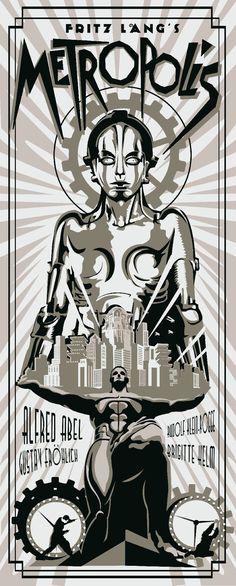 Movie Poster - Metropolis by Redolfo Reyes