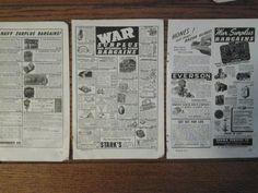 1947 Vintage War Surplus Magazine Full Page Print Ads