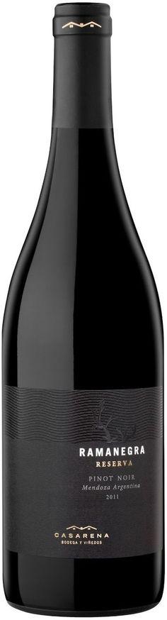 """""""Ramanegra reserva"""" Pinot noir 2011  - Bodega Casarena, Luján de Cuyo, Mendoza ---------Terroir: Perdriel-------------------Crianza: 12 meses en barricas de roble francés"""