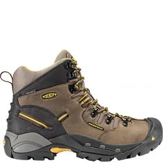 1007025 KEEN Men's Pittsburgh Safety Boots - Slate Black www.bootbay.com