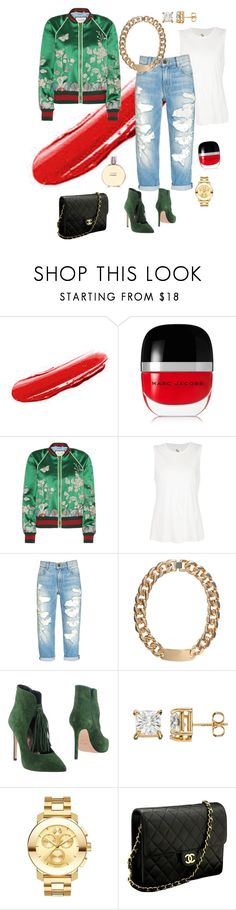 """Untitled #67"" by tammy-stacey ❤ liked on Polyvore featuring Yves Saint Laurent, Marc Jacobs, Gucci, 321, Alex and Chloe, Anna F., Movado and Chanel"