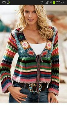 Crochet sweater left overs