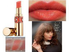 ysl lipstick rouge volupte shine 14 corail in touch