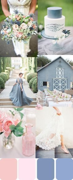 Rose Quartz with its warm soft delicate pink and Serenity with its dusty tranquil blue create a sense of calm and balance in the world around us. I'm sure these two pastel hues will be making a big splash this wedding season, especially spring and summer weddings #WeddingIdeasSummer