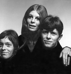 David Bowie in the late 1960's with his first big love affair Hermione Farthingale who created the act Feathers.