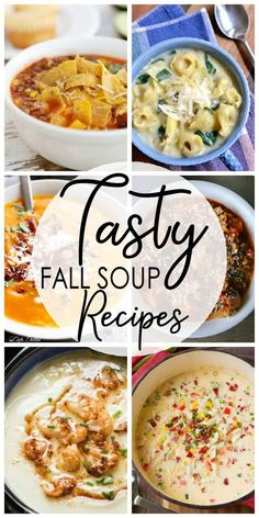 25 Tasty Fall Soup Recipes If you're looking for a way to celebrate this fall season try one of these Tasty Fall Soup Recipes. They're sure to warm your heart and your belly. There's a lot that I think of when I think of the fall season and a good, hearty Fall Soup Recipes, Crockpot Recipes, Cooking Recipes, Healthy Recipes, Recipes Dinner, Instapot Soup Recipes, Cheap Recipes, Quick Recipes, Korma