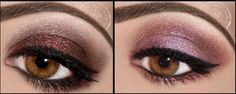 We think both of these are Perfect for Valentine's Day Purple Eyeshadow Looks, Brown Eyeshadow, Make Up Tricks, How To Make, Eye Color, Eye Shadow, Fun Things, Valentines Day, Makeup Looks