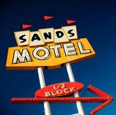 Sands Motel Neon Sign Photo - Mid Century Modern Decor - Route 66 Grants - Fine… #boulderinn