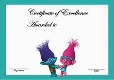 Trolls Holiday – Awards – Birthday Printable