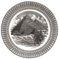 PTS America 222 Fifth Slice of Life Great Pyramids 11-inch Dinner Plate: Kitchen & Dining - These plates are works of art!