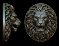 Lion Pendant 2 Versions | 3D Print Model