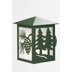 Steel Partners Twin Tree 1 Light Outdoor Sconce Finish: Old Iron, Shade Color: Khaki, Size: Large