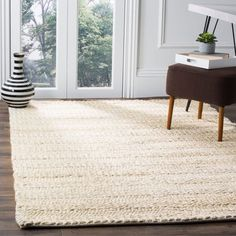 Shop for Safavieh Handmade Natural Fiber Haven Bleach Off-White Jute Rug - x Get free delivery at Overstock - Your Online Home Decor Store! Get in rewards with Club O! Online Shopping, Online Home Decor Stores, Natural Fiber Rugs, Natural Rug, Braided Area Rugs, Area Rug Sets, House Ideas, Modern Farmhouse Design, Farmhouse Decor
