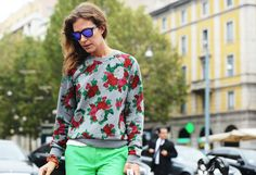 Floral Print I Tommy Ton Shoots the Street-Style Scene at the Spring 2013 Shows