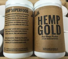 Supply drop of #HempGold has landed // Cleanest protein that tastes delicious // Each scoop is 15g of plant based Hemp protein // Free of artificial sweeteners and fillers //  Free shipping on orders over $50 at athorganics.com //