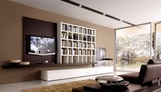 Living Room, Modern Living Room Inspiration for Your Home: Brown Accent For White And Gray Living Spaces Interior Grey And Brown Living Room, Living Room White, Living Room Modern, Living Room Interior, Interior Design Living Room, Living Room Designs, Living Room Decor, Living Rooms, Living Spaces