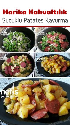 Sucuklu Kahvaltılık Patates Kavurma - Nefis Yemek Tarifleri - Çorba Tarifleri - Las recetas más prácticas y fáciles Detox Recipes, Healthy Recipes, Healthy Nutrition, Delicious Recipes, Turkish Recipes, Ethnic Recipes, Sausage Potatoes, Clean Eating Breakfast, How To Make Sausage