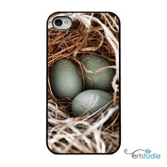 Robin Egg Blue Black iphone Case  IPhone 4 and 4s by artstudio54, $20.00