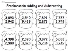 7259 best Halloween Math Ideas images on Pinterest in 2018
