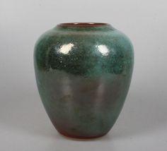 Unique Herman Zaalberg lustre glazed art pottery vase...