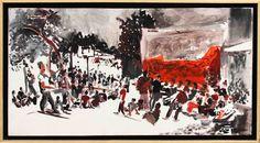"""Pintura - acrílico sobre tela. 70x40cm,  """"Circo do Beco"""", 2010."""