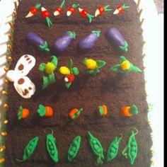 Peter rabbit garden cake