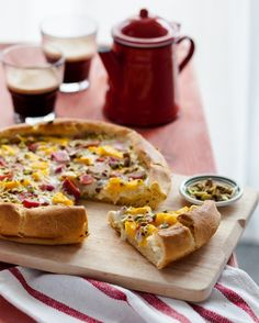 Use rhubarb, mango and passion fruit to make this Fruit Brioche Galette.
