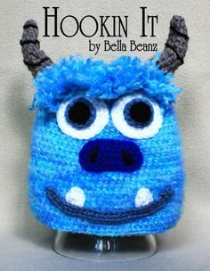 mike and sully mitten pattern | Sully From Monsters Inc. Inspired Crocheted Hat & Pattern