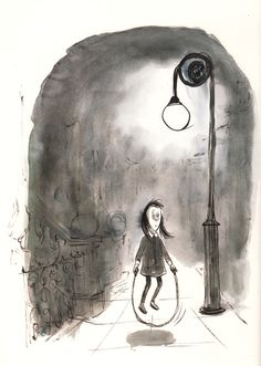 """""""Here am I,/Little Jumping Joan;/When nobody's with me,/I'm all alone."""" Charles Addams Illustrates Mother Goose, 1967"""